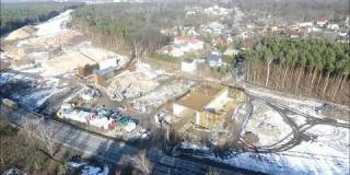 Embedded thumbnail for 07.02.2019 - WS-1 - deskowanie skrzydła, zbrojenie i deskowanie ustroju nośnego w miejscowości Wiązowna