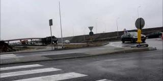 Embedded thumbnail for 27.12.2019 - widok na ruch na rondzie w Góraszce