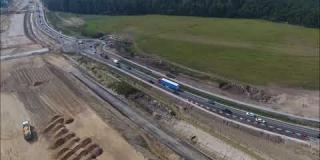 Embedded thumbnail for 30.08.2019 - węzeł Góraszka i widok na trasę S17, Rudka