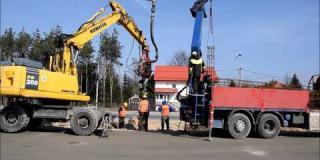 Embedded thumbnail for 18.03.2020 - wykonanie trzonów pali pod ekrany akystyczne, Góraszka