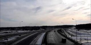Embedded thumbnail for 22.01.2021 - widok na trasę główną S17 w miejscowości Góraszka