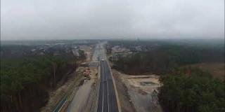 Embedded thumbnail for 27.12.2019 - Widok na trasę główną S17 od km 7+500 do km 6+500