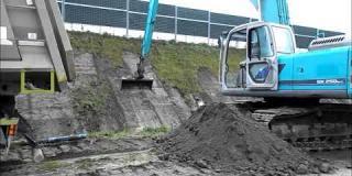 Embedded thumbnail for 23.10.2020- Prace ziemne - skarpowanie przy drodze dojazdowej DD25, Ostrowik