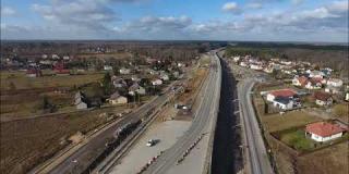 Embedded thumbnail for 31.01.2020 - Widok na trasę główna i drogi dojazdowe DD13 i DD15, Wólka Mlądzka