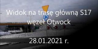 Embedded thumbnail for 28.01.2021- widok na trasę S17 - węzeł Góraszka, węzeł Wiązowna, węzeł Otwock, węzeł Ostrów